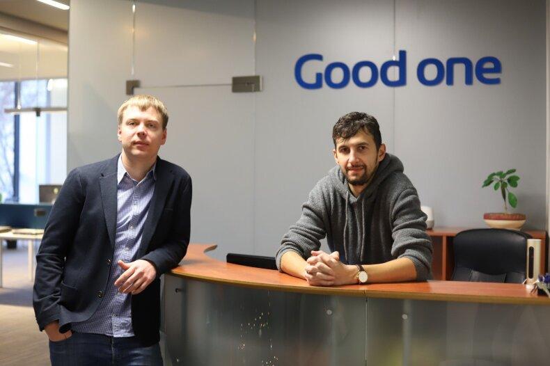 """""""Good one"""" vadovai Tomas Varnas (dešinėje) ir Karolis Sukackas"""