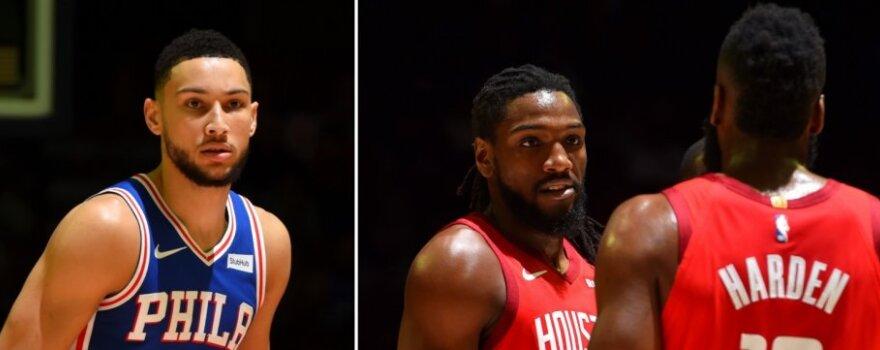 """Filadelfijoje – Fariedo debiutas, stulbinanti Hardeno serija ir užtikrinta """"76ers"""" pergalė"""