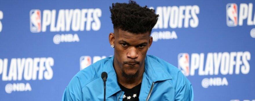 """Skandalingas Butlerio smūgis """"Timberwolves"""" klubui – šansas Valančiūnui tapti NBA čempionu?"""