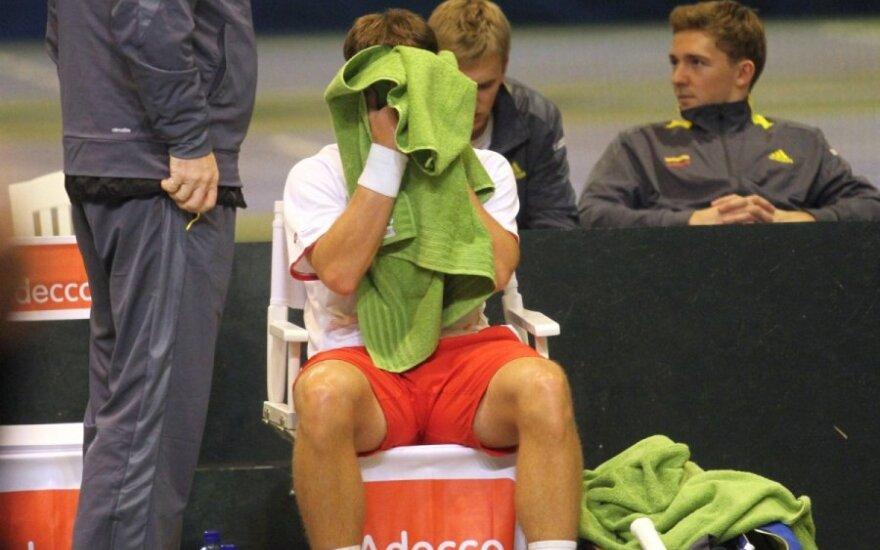 Ne laiku atsipalaidavęs R. Berankis suklupo turnyro Prancūzijoje pusfinalyje