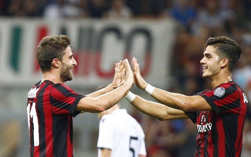 """AC Milan"" futbolininkai triumfuoja"