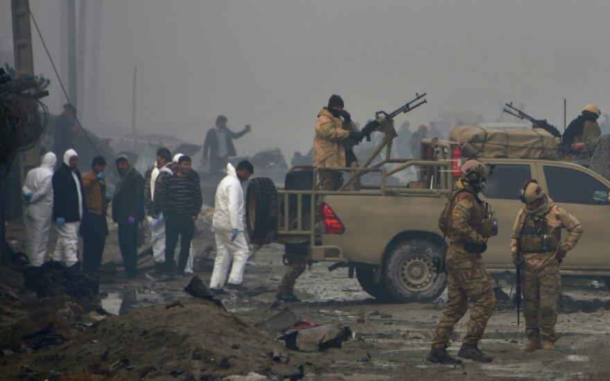 Afganistano saugumo pajėgos po atakos Kabule