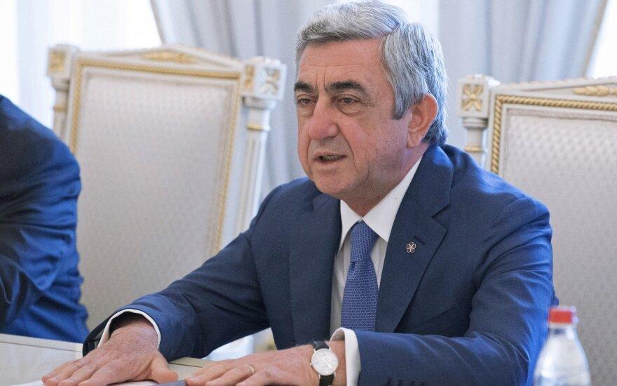 Armėnijos prezidentas ragina spausti Azerbaidžaną, kad būtų išvengta karo