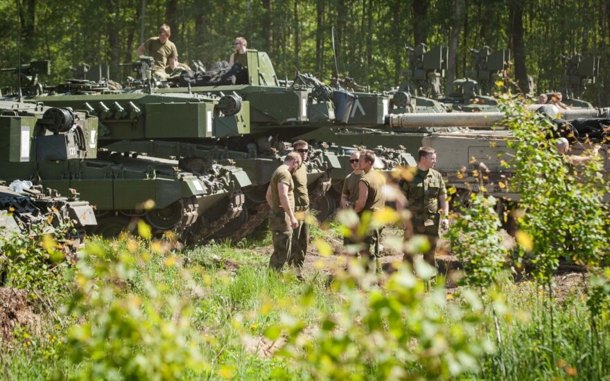 Norwegian Leopard II tanks in Lithuania