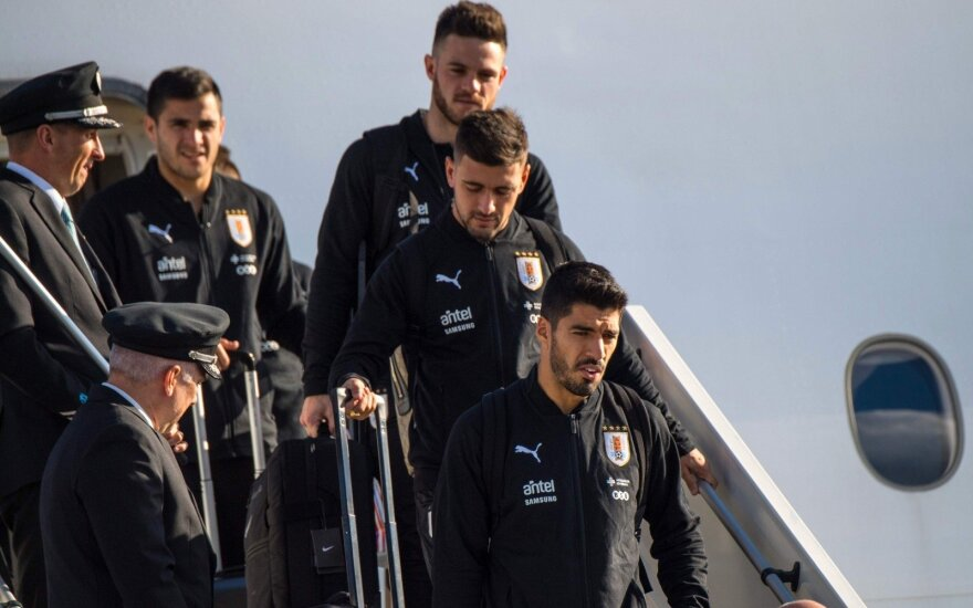 Urugvajaus rinktinė atvyko į Rusiją