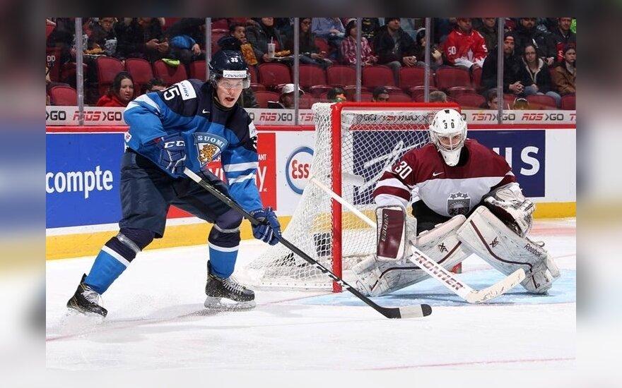 Ledo ritulys: Suomija U20 – Latvija U20 (IIHF nuotr.)