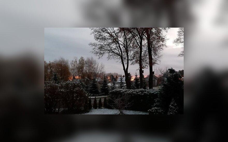 Žiemiškas vaizdas Biržuose
