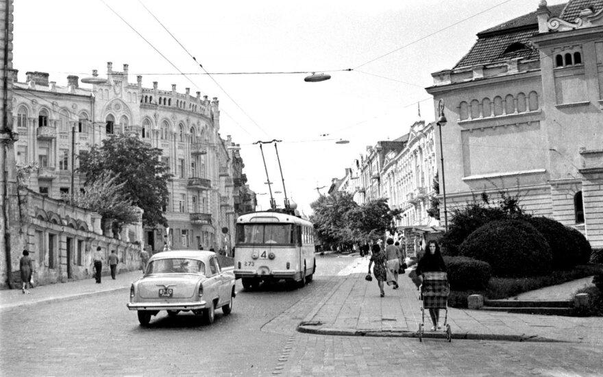 J. Basanavičiaus gatvė. 1974. A. Reklaičio nuotr., Lietuvos centrinis valstybės archyvas