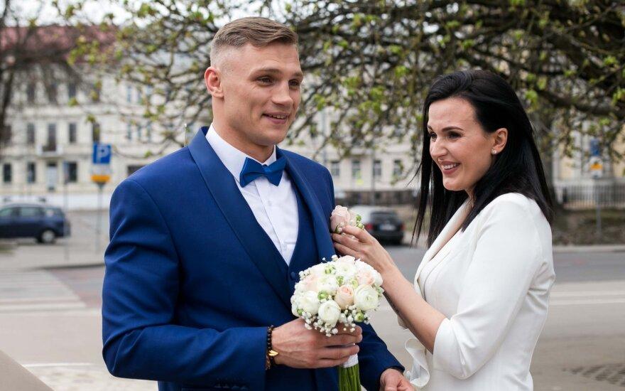 Sergejus Maslobojevas su mylimąja Airine