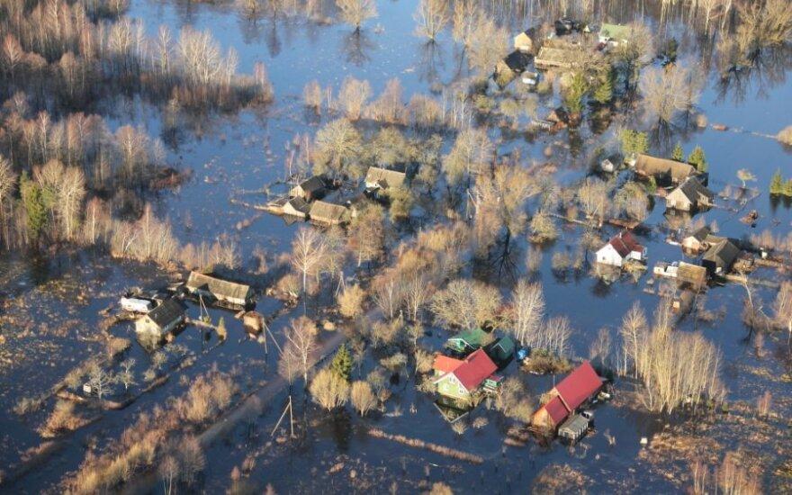 Potvynis pamaryje / A. Poteliūno nuotr.