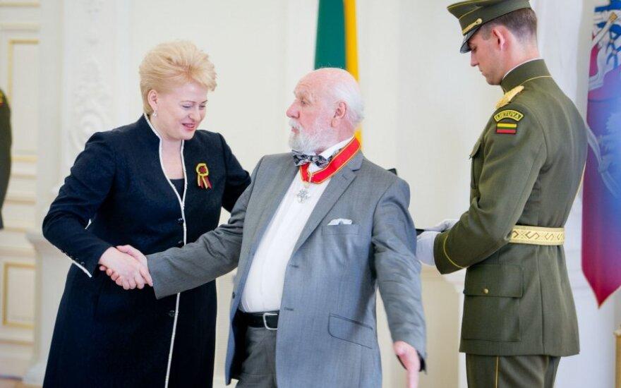Dalia Grybauskaitė ir Vytautas Paukštė