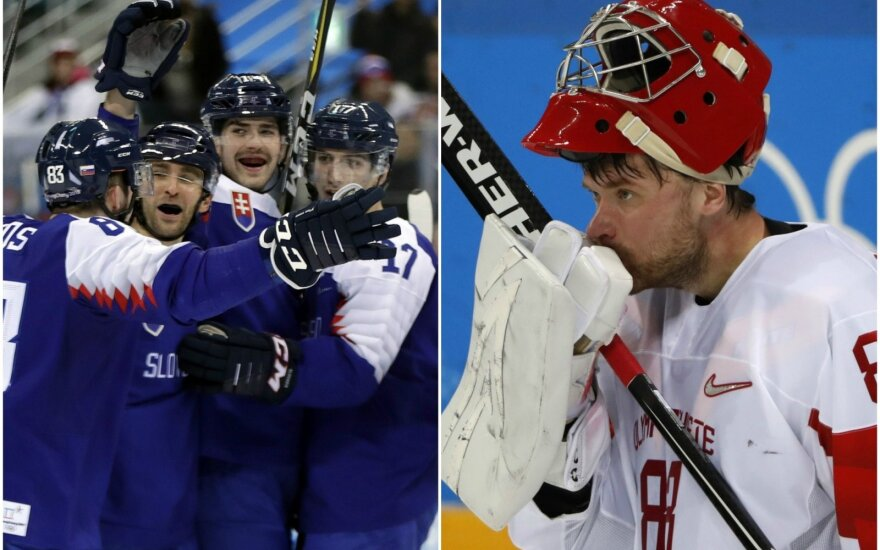 Slovakijos ledo ritulininkai ir Olimpiniai atletai iš Rusijos