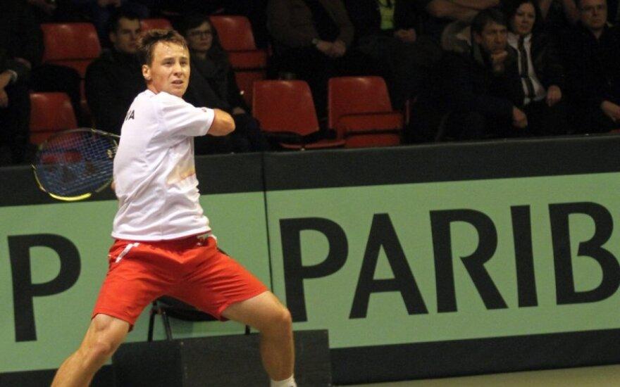 R. Berankis ATP reitinge prarado dar dvi pozicijas