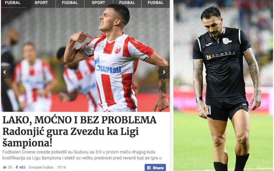 """Serbijos žiniasklaida greitai nurašė """"Sūduvos"""" ekipą"""