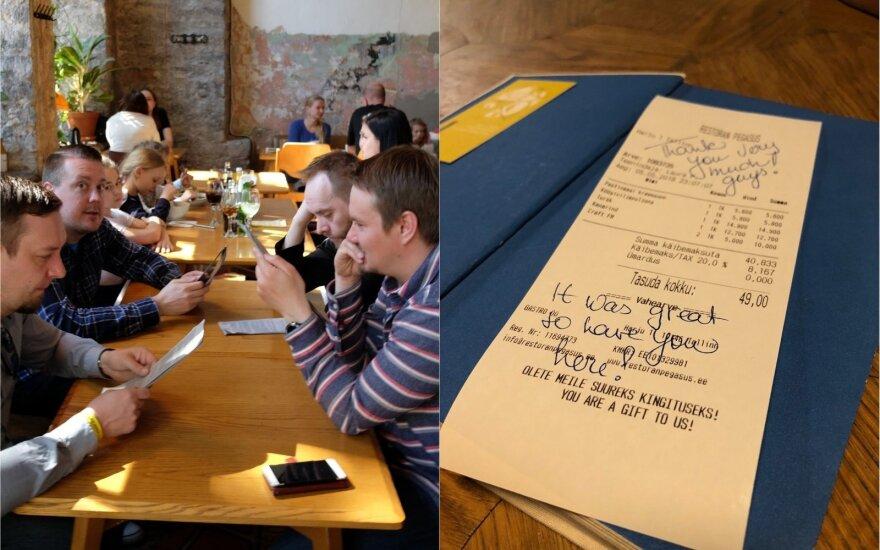 Apsilankė Talino restoranuose: per vieną vakarą galima pravalgyti visą lietuvišką atlyginimą