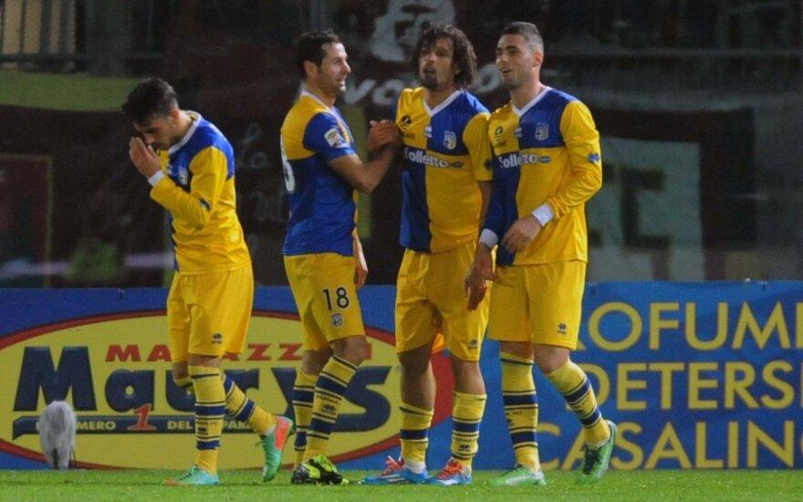 """""""Parma"""" futbolininkai pakilo į septintą vietą Italijoje"""