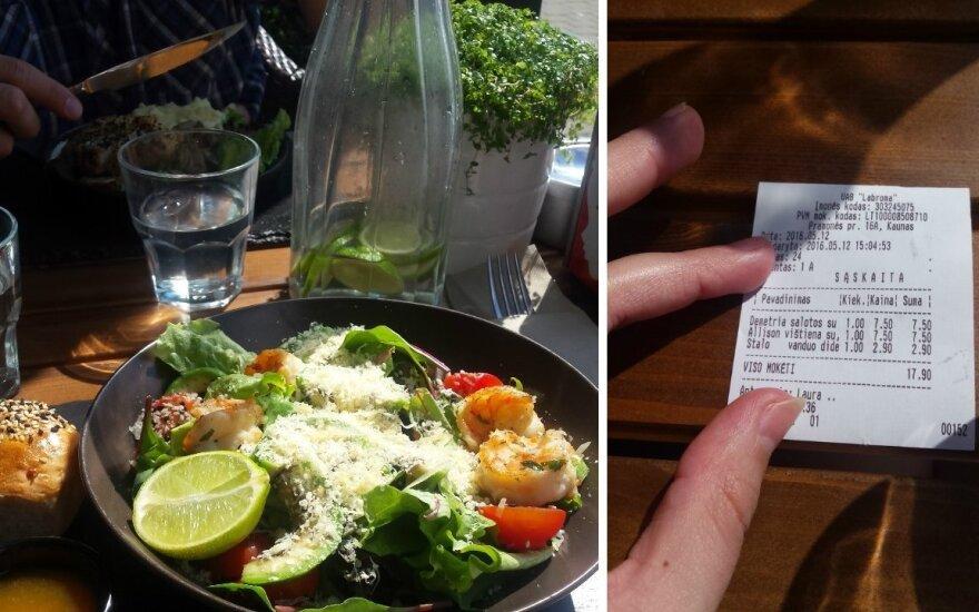 Pamačiusi vandens kainą kavinės lankytoja negalėjo atsitokėti