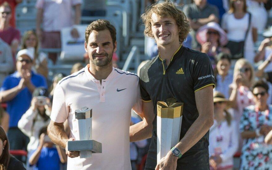 Rogeris Federeris ir Aleksandras Zverevas
