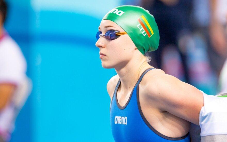 Perspektyvi šalies plaukikė pagerino Lietuvos rekordą
