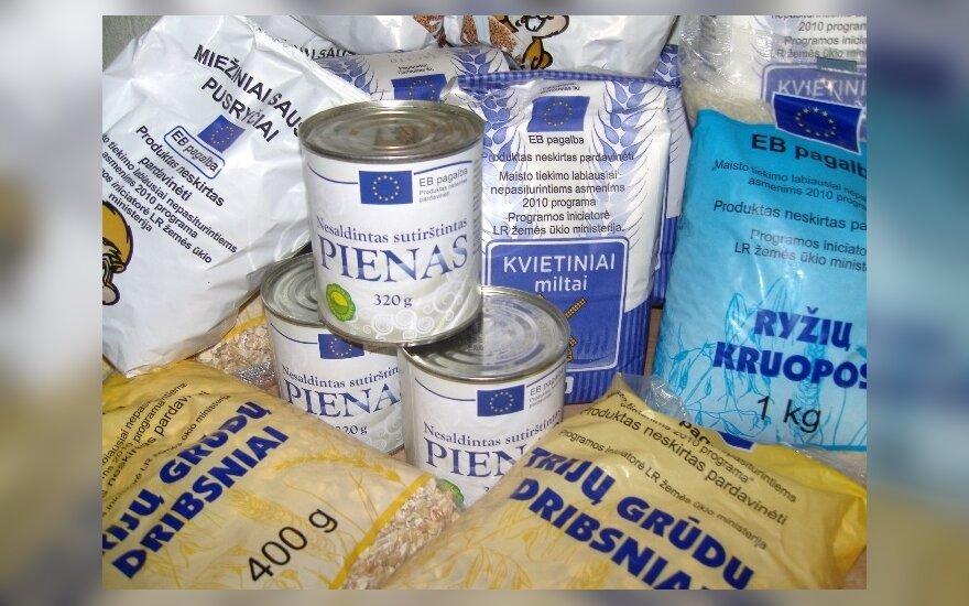 Vasarį sunkiau besiverčiančius gyventojus pasieks pirmoji šiais metais parama maisto produktais