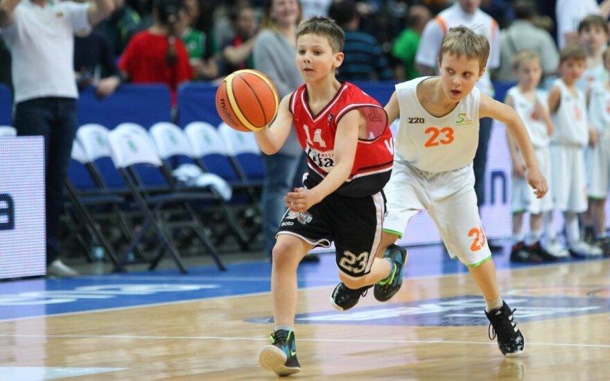 SKM ir A.Sabonio KC jaunųjų krepšinininkų mačas