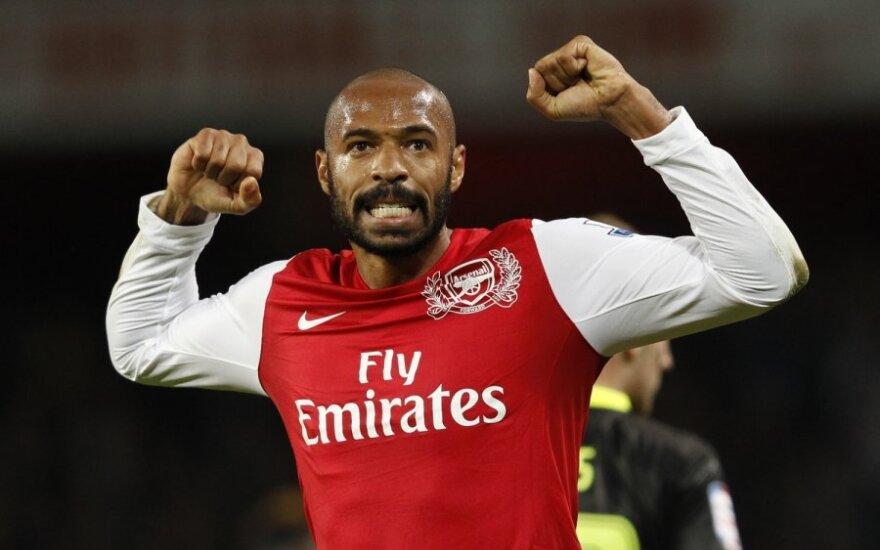"""T.Henry susižeidė ir gali praleisti savaitgalio rungtynes su """"Manchester United"""" ekipa"""