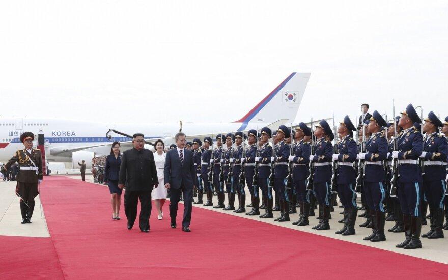 Šiaurės ir Pietų Korėjų lyderiai susitiko Pchenjane