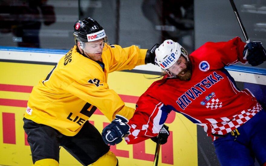 Pasaulio IB ledo ritulio čempionatas: Lietuva - Kroatija