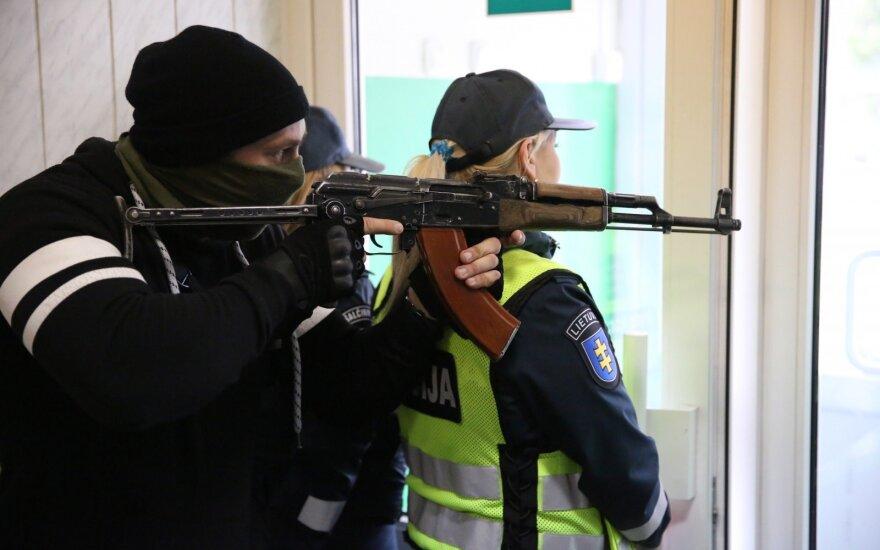 The 'green little men' exercise in Šalčininkai