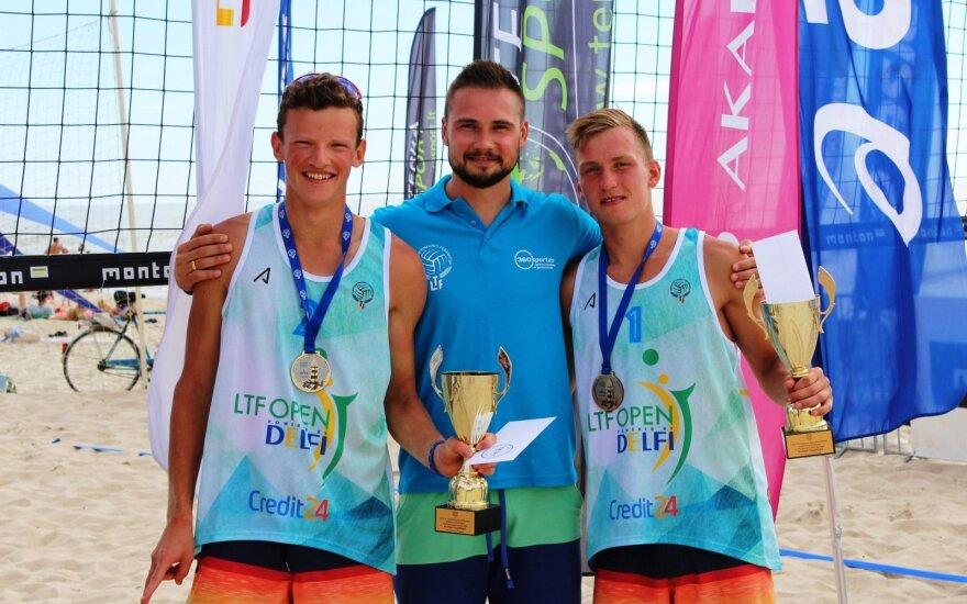Lietuvos paplūdimio tinklininkai nugalėjo pasaulio čempionato prizininkus
