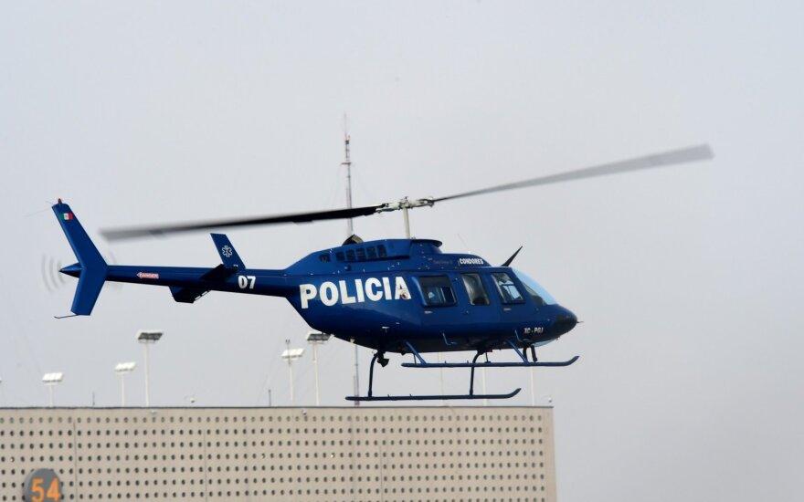 Meksikoje nusikaltėlių gauja numušė policijos sraigtasparnį