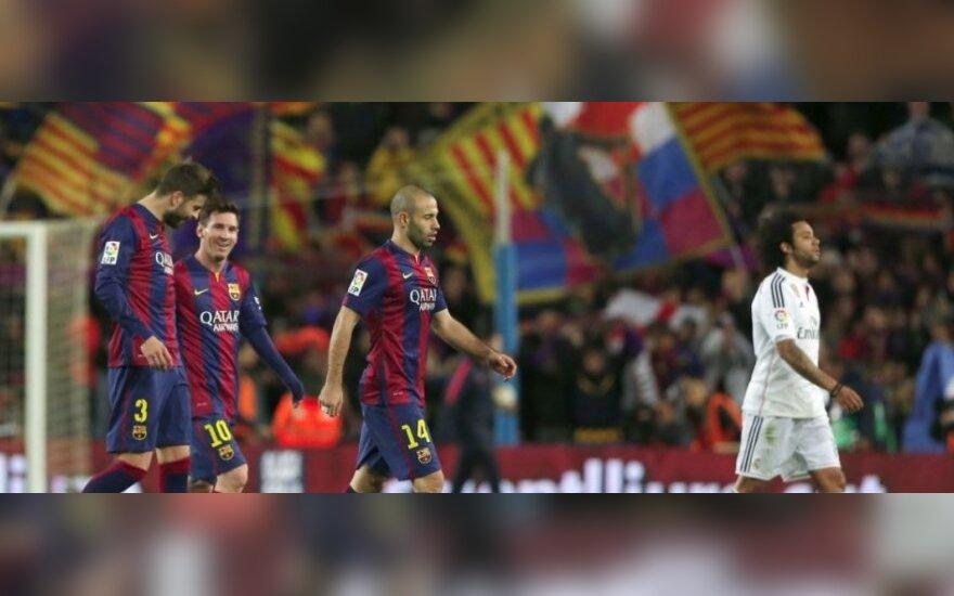Gerardas Pique, Lionelis Messi, Javieras Mascherano ir Marcelo