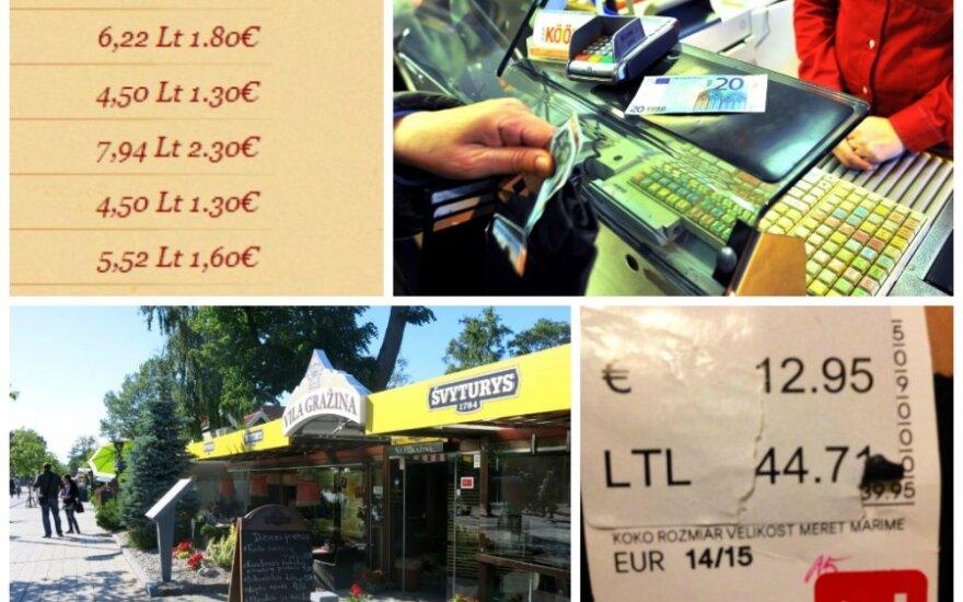 Kainų perrašymas prieš eurą