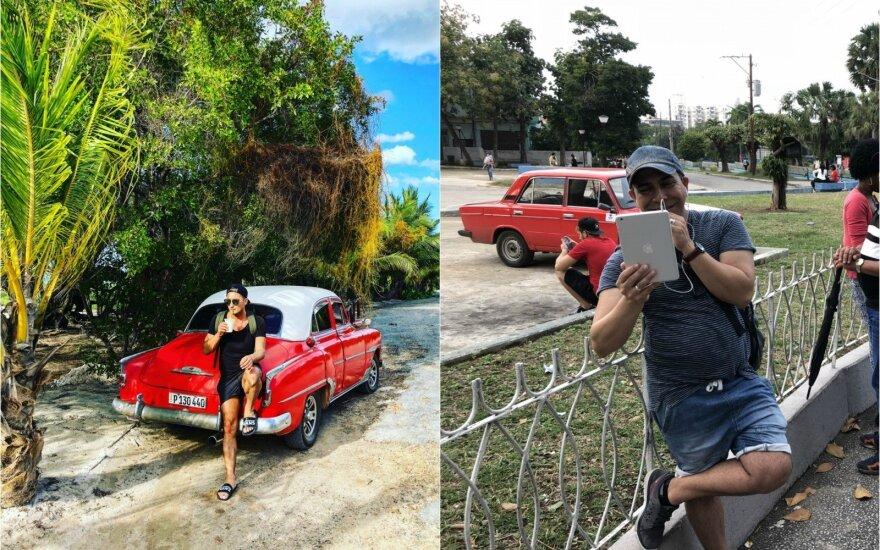 Orijaus bandymas prisijungti prie interneto Kuboje