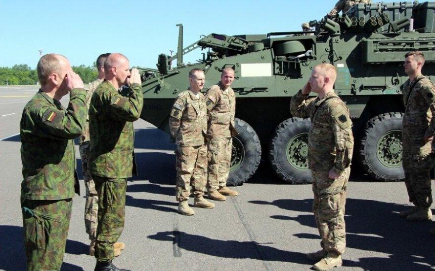 Į Lietuvą atvyko JAV kariai