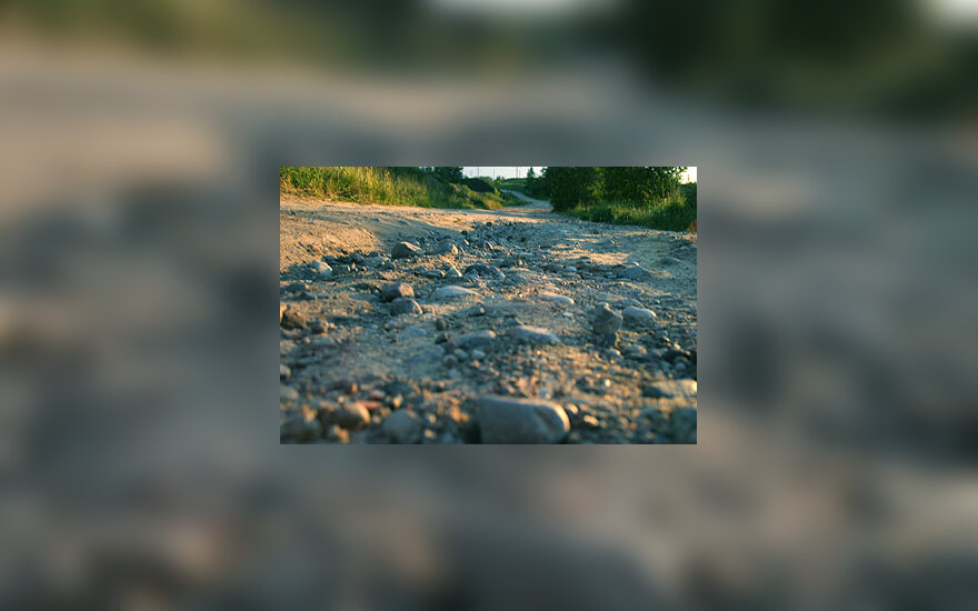 Akmenys, kelias, žvyras