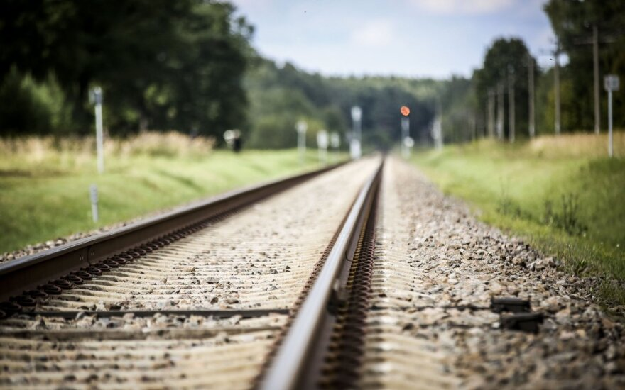 A Lithuanian railroad