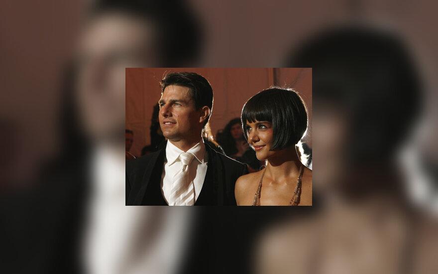 Tomas Cruise'as su žmona Katie Holmes