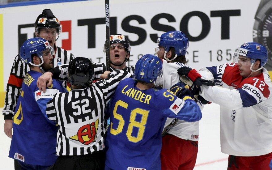 Kovoja Švedijos ir Slovakijos rinktinės
