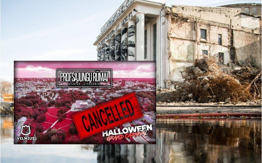Byrantys Profsąjungų rūmai sugriovė ir Helovino vakarėlį