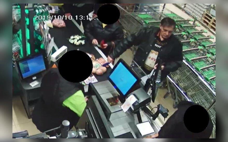 Alytuje įvykdyta vagystė: ieškomas vaizdo kameromis užfiksuotas vyras