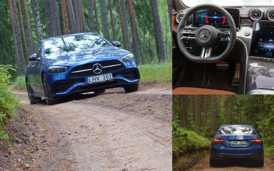 """Naujos C klasės testas: pavažinėjus tapo aišku, kodėl ją lygina su prabangiausiais """"Mercedes-Benz"""""""
