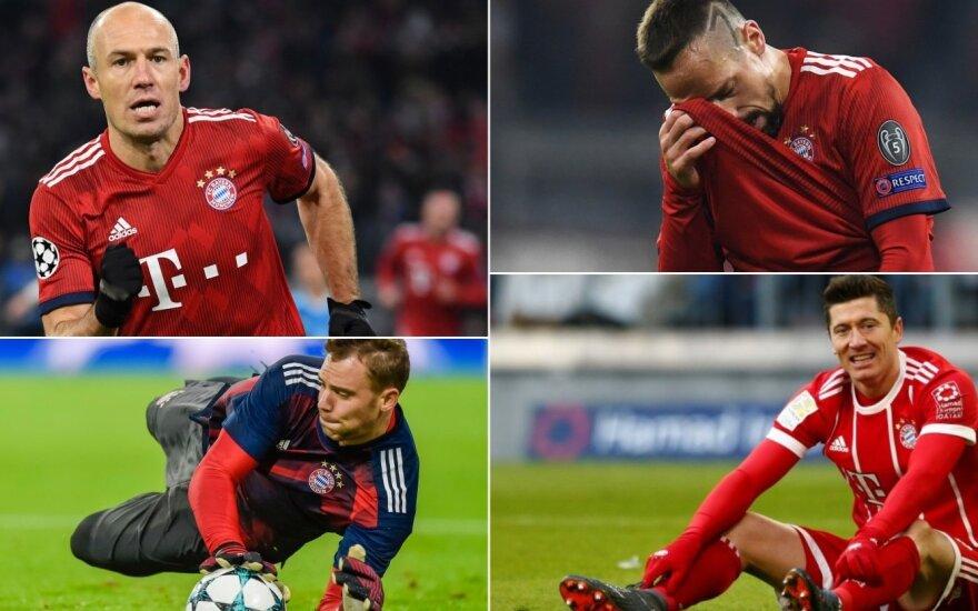 """Bayern"" žaidėjai, Arjen Robben, Franck Ribery, Manuel Neuer, Robertas Lewandowski"