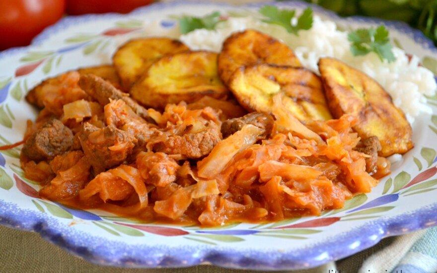 Idėja vakarienei – meksikietiškas jautienos ir kopūstų troškinys