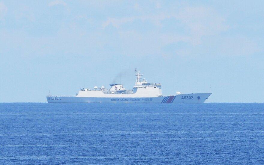 JAV karinio laivyno vadas nenori, kad įtampa santykiuose su Kinija peraugtų į konfliktą