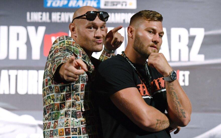 Šmaikšti Tysono Fury ir Tomo Schwarzo akistata prieš kovą