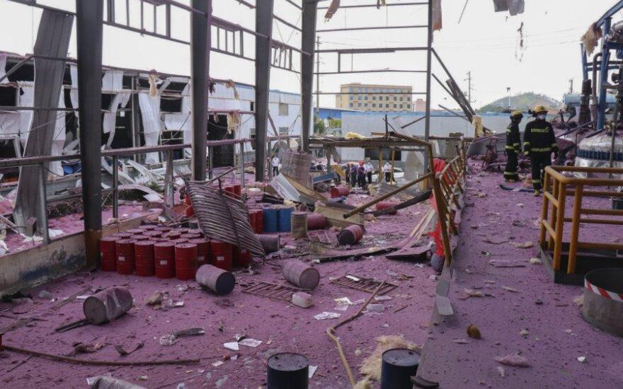Kinijos chemijos gamykloje per sprogimą žuvo mažiausiai keturi žmonės