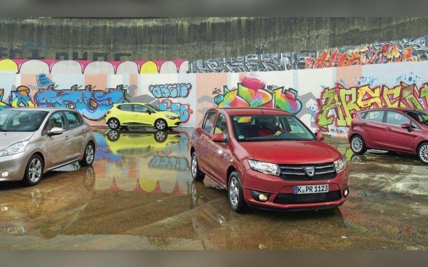 Dacia Sandero su varžovais