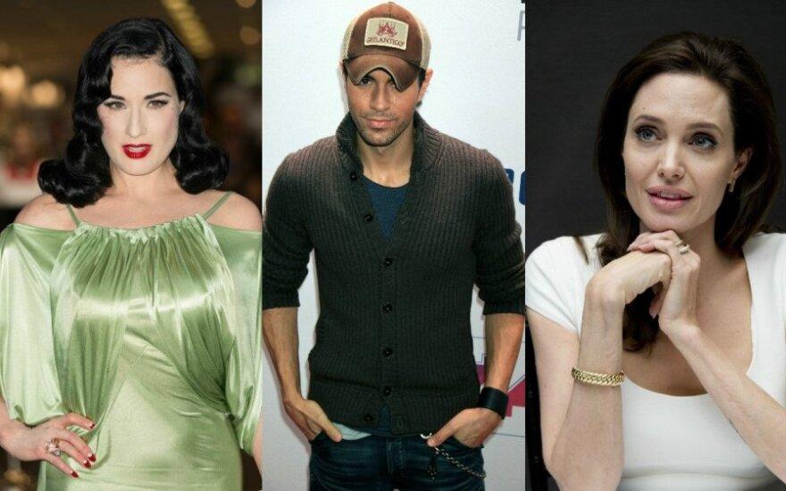 Dita Von Teese, Enrique Iglesias, Angelina Jolie