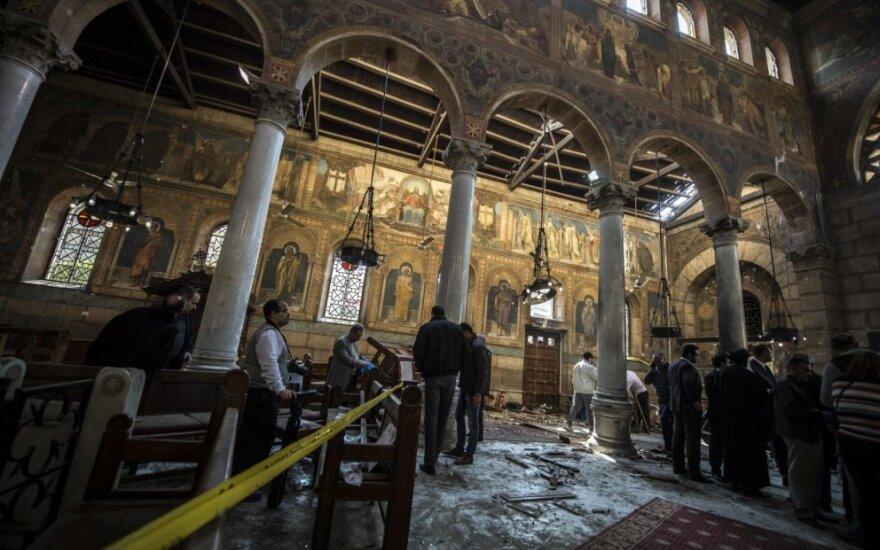 Šv. Petro ir Povilo koptų bažnyčia Egipte po teroro atakos
